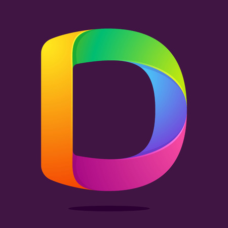 d: Letter volume colorful concept. Vector design template elements for your application or corporate identity.
