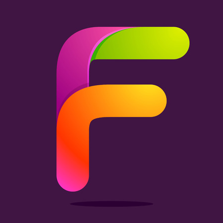 letter f: Letter volume colorful concept. Vector design template elements for your application or corporate identity.