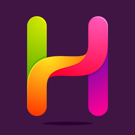 letter h: Letter volume colorful concept. Vector design template elements for your application or corporate identity.