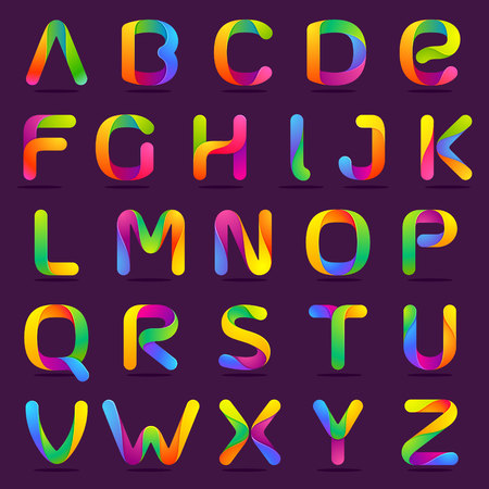 colorful: Letter volume colorful concept. Vector design template elements for your application or corporate identity.