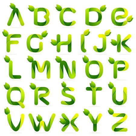 abecedario: Volumen Carta colorido concepto. Vector de elementos de plantilla de dise�o para su aplicaci�n o identidad corporativa.