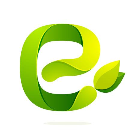 feuille arbre: Volume coloré concept Lettre. Template vecteur de conception éléments pour votre application ou de l'identité d'entreprise.