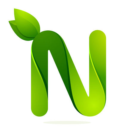 letter n: Letter volume colorful concept. Vector design template elements for your application or corporate identity.