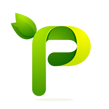letter p: Letter volume colorful concept. Vector design template elements for your application or corporate identity.