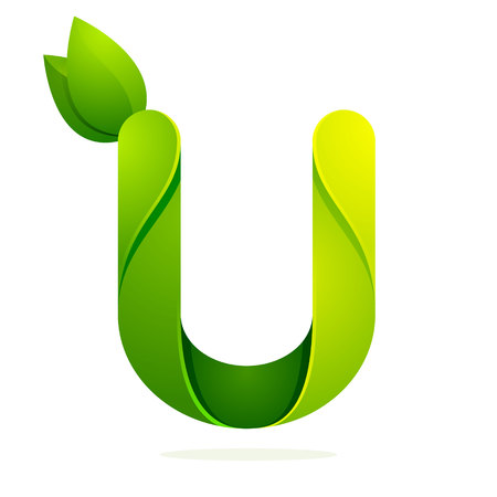 letter u: Letter volume colorful concept. Vector design template elements for your application or corporate identity.