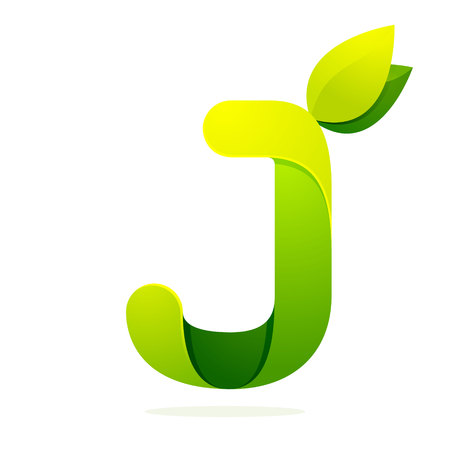 j: Letter volume colorful concept. Vector design template elements for your application or corporate identity.