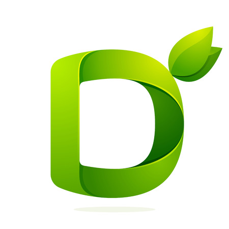 a d: Letter volume colorful concept. Vector design template elements for your application or corporate identity.