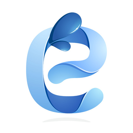 e liquid: Letter volume colorful concept. Vector design template elements for your application or corporate identity.