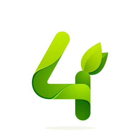 latin: Number volume colorful concept. Vector design template elements for your application or corporate identity.