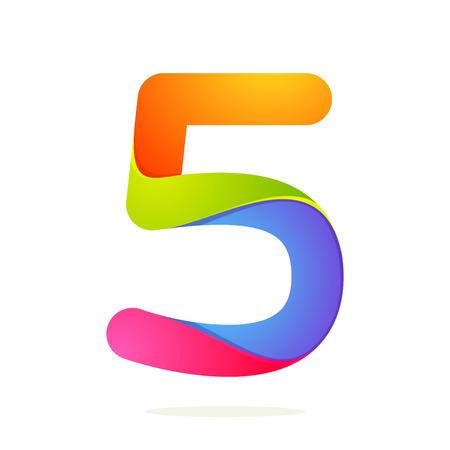 Volume Numero colorful concetto. Vettore modello struttura elementi per l'applicazione o identità aziendale.