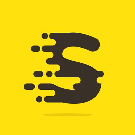 lettres alphabet: La vitesse rapide de lettre de service de taxi. Template vecteur de conception �l�ments pour votre application ou votre entreprise.