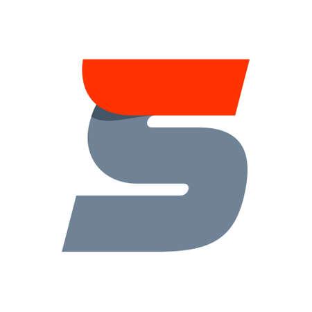 lettre s: Vecteur vitesse rapide de lettre inhabituelle. Template vecteur de conception éléments pour votre application ou votre entreprise. Illustration