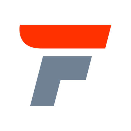 letter f: Fast speed vector unusual letter. Vector design template elements for your application or company.