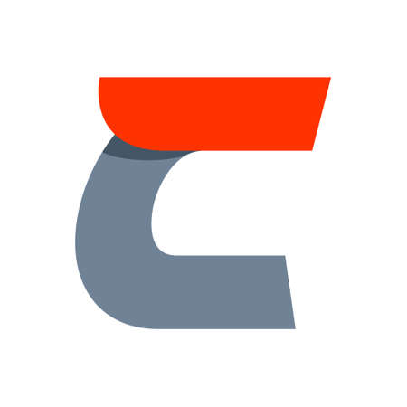 letter c: Fast speed vector unusual letter. Vector design template elements for your application or company.