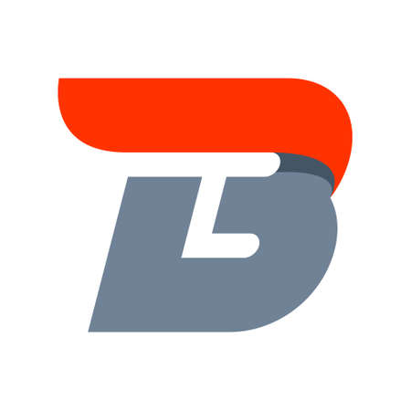 letter b: Fast speed vector unusual letter. Vector design template elements for your application or company.