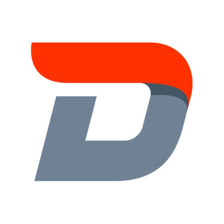 D: Fast speed vector unusual letter. Vector design template elements for your application or company.