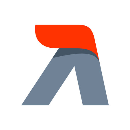 Letter A icon design template. Fast speed vector unusual letter. Vector design template elements for your application or company.