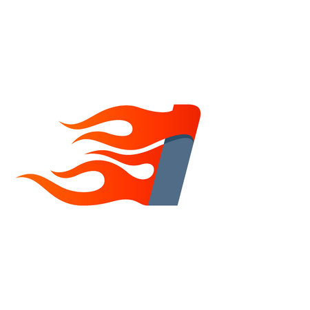 Letter I icon design template. Fast fire speed vector unusual letter. Vector design template elements for your application or company. Çizim