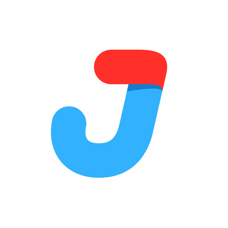 Letter J with fast speed line. Design template elements for your application or corporate identity. Illustration