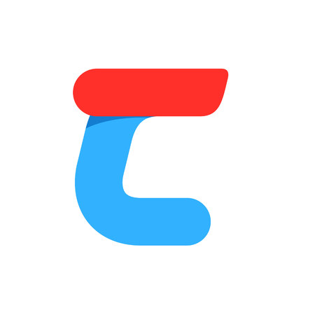 Letter C with fast speed line. Design template elements for your application or corporate identity.