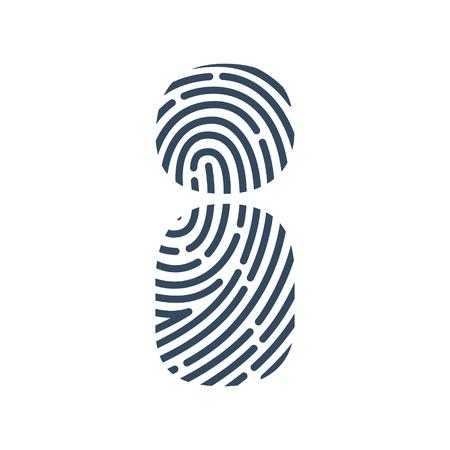 Letter I line icon. Vector fingerprint design. Detective, Audit or Biometric access control system.