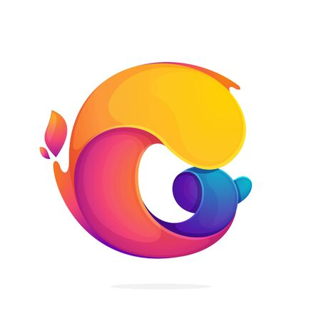O letter logo consisting of fire flames. Font style, vector design template elements for your application or corporate identity.
