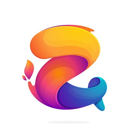 Z letter logo consisting of fire flames. Font style, vector design template elements for your application or corporate identity.
