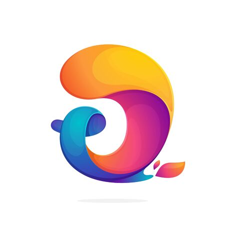 J letter logo consisting of fire flames. Font style, vector design template elements for your application or corporate identity.