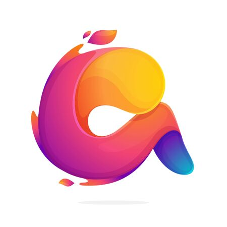 Letter A logo consisting of fire flames. Font style, vector design template elements for your application or corporate identity.