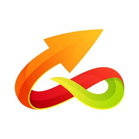 Vector unreal infinity logotype. Infinite loop. Icon for the application, the company logo or Web site