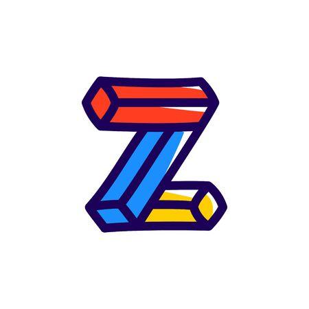 Z letter icon. Illustration