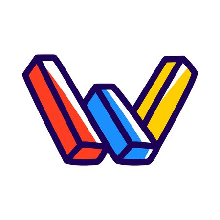 W letter icon.