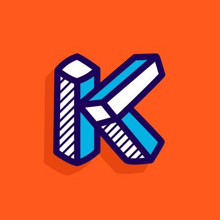 K letter icon. Ilustração