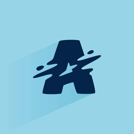 Initial letter A fast speed logo design template. Vector wave line font for sport labels, dynamic headlines, bets posters, etc.