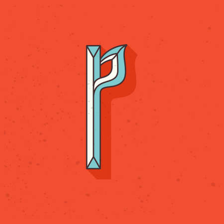 Retro compressed P letter logo. Blackletter font perfect to use in any alcohol labels, retro style logos, circus posters, luxury identity, etc. Ilustração