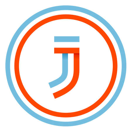 This letter can be used for a sports team identity. Also, it can be a red-white-blue flag ribbon.