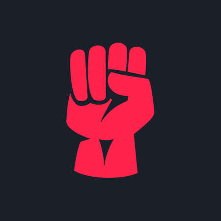 A raised fist. Vector elements for your application or corporate identity design. 向量圖像