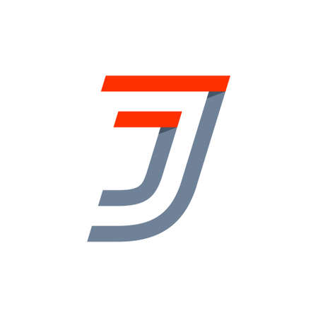 J letter fast speed logo. Vector design template elements for your mobile application, shipping icon or sport identity.