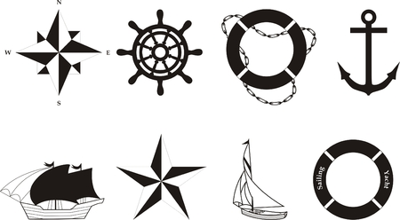 Nautical vector symbols Vector