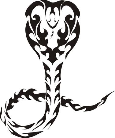 cobra: Tatuaje tribal de serpiente
