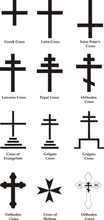 golgotha: Christian crosses