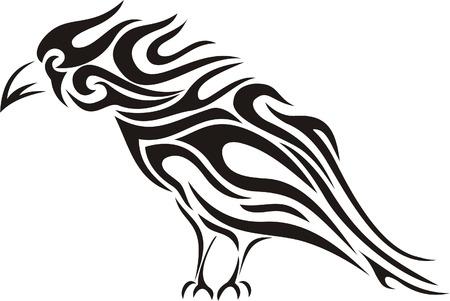 Tribal raven tattoo Stock Vector - 4415301