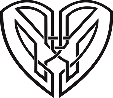 celtic symbol: Celtic heart - tribal tattoo