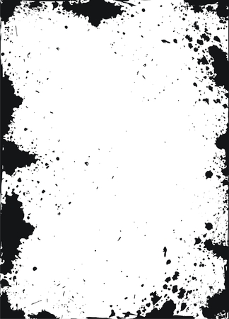 Grunge frame with ink spots Stock Vector - 5011047