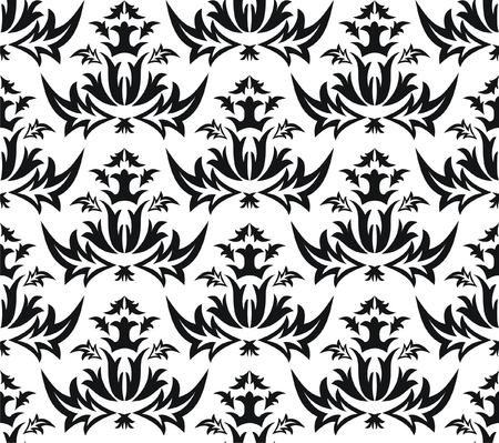 wry: Damask seamless pattern - vector