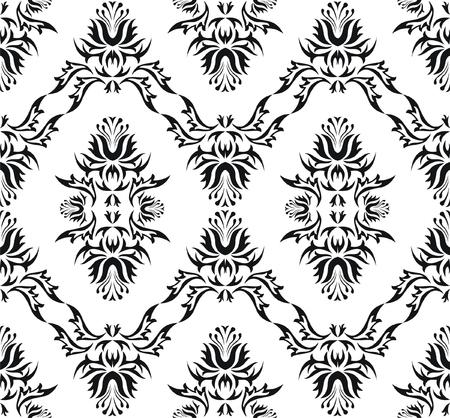 wry: Damask (Victorian) seamless pattern