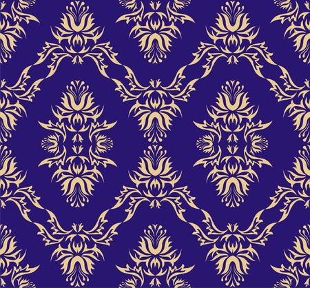 Damask (Victorian) seamless pattern Vector