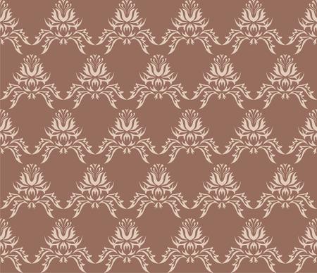 brownish: Damask (Victorian) seamless pattern