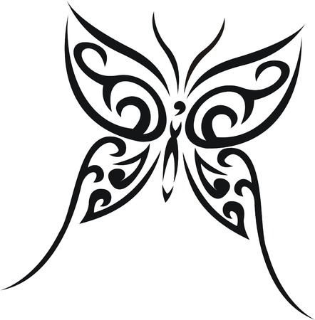 Butterfly tattoo Stock Vector - 5161810