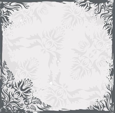 ringlet: Grunge vintage floral background Illustration